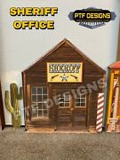O Scale Wild West Sheriff Office- Building Flat/front- Mth -police Station