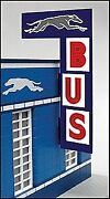 Miller Engineering 5881 O Greyhound Bus Station Animated Vertical Sign
