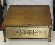 Antique Vintage Very Large Brass Bible Stand Beautiful