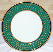 Fitz And Floyd Chaumont Charger / Service / Chop Plate 12 Teal Green Mint
