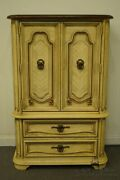 Stanley Furniture Louis Xvi French Provincial Yellow / Cream 40 Door Chest O...