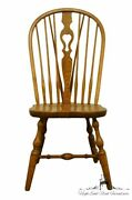 S. Bent Bros. Grand Rapids Solid Oak Country Style Dining Side Chair