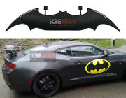 Real Carbon Fiber Batman Style Rear Trunk Spoiler Wing With Led Stop Light F6