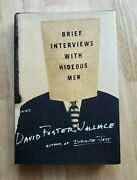 """Signed 1st Edition """"brief Interviews With Hideous Men"""" By David Foster Wallace"""
