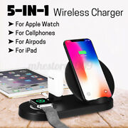 5in1 Qi Wireless Charger Fast Charger Holder 36w For Iphone Cell Phone Watch