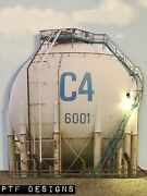 G Scale Scratch Built Round C4 Tank Oil Farm Industrial Front/flat 1/32 1/24