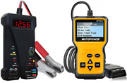 Motopower Mp0514a 12v Battery Tester With Mp69033 Car Obd2 Code Reader...