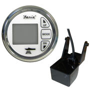 13852 Faria 2 Dual Depth Sounder W/air Andamp Water Temp Transom Mount Transd...