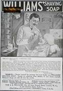 Antique February 1900 Victorian Advert Williamsand039 Shaving Soap Newspaper Ephemera