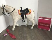 American Girl Saige Horse Picasso + Parade Saddle Halter Blanket White Spotted