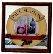 Vintage 7 Up Thermometer Paul Masson California Cooler Wine Mirror
