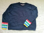 New Mini Boden Girls Navy Cropped Wool Sweater Size 15/16 Winter Textured Knit