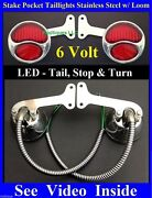 6 Volt Pg Led Stainless Stake Pocket Taillights Loom Ford Pickup Truck
