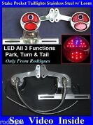 Led Blue Dot Stake Pocket Taillights Loom License Plate Bracket Chevy Gmc Truck