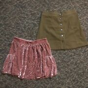Womens Madewell Skirts Size 2 Lot Of 2