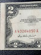 1953 2 Error Miscut Bill Misaligned Red Seal And Serial Too Far Lift
