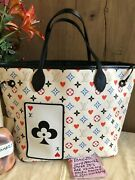 Authentic Louis Vuitton Game On Neverfull Mm White - Used Once Mint Condition