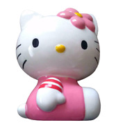 Hello Kitty Pottery Piggy Bank Large Antique