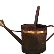 Antique Tin Watering Can