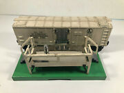 Vintage Lionel Automatic Refrigerated Milk Car And Platform O Scale Working