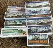 Hess Trucks 1990-2015 Comes With Original Boxing And Bags- Nib-- W/ 2 Miniand039s