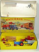 Matchbox G-3 Gift Set Farming Set Rare 1st Issue With Transit Card 285