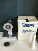 Made In Italy Aepi Stainless Steel Vintage Meat Grinder Sausage Stuffer Italian