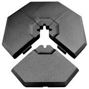 Umbrella Base Stand 4-piece Patio Cantilever Offset Weighted Yard Outdoor Square