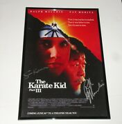 Ralph Macchio And Sean Kanan Signed Framed The Karate Kid Iii 11x17 Movie Poster