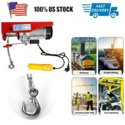 400/800kg Electric Hoist Winch Lifting Engine Crane Cable Overhead Pulley Usa