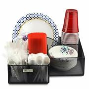 Eltow Black Plate And Cutlery Organizer Large Kitchen Spoon Fork Knives ...