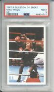 1987 A Question Of Sport Mike Tyson Rookie Psa 9 Mint Vintage Boxing Rc Card