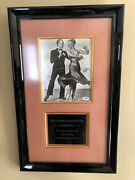 Fred Astaire And Ginger Rogers Vintage Signed Original Photo Museum Framed Psa/dna