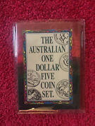 1984-1992 The Australian One Dollar Five Coin Set. Uncirculated