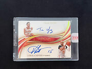 2019-20 Panini Immaculate Trae Young And Vince Carter Dual Auto Gold 11/25 Rare