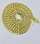 14k Yellow Gold 8mm Cuban Link Necklace Chain 18 -30 Inch Box Lock Real 14 Kt