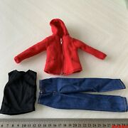 1/6 Red Jacket And Vest And Jeans Clothes Suit Set Fit 12inches Phicen Hottoys Figur