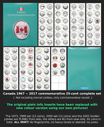19672017 - Canada Commemorative 25-cent Complete Set - Bu And Pl - All Mint