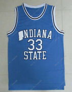 Menand039s Larry Bird 33 Indiana State Basketball Jersey All Stitched High Quality