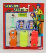 Vintage Shell Service Station Playset By Larami Dime Store Rack Toy