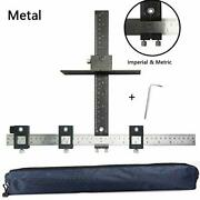 Cabinet Hardware Jig Aluminum Alloy Cabinet Drawer Drilling Template Jig Punch L
