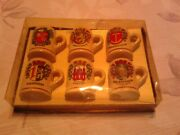 Set Of 6 Vintage Collectible Mini Beer Steins From Germany 2 Inch