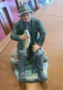 Royal Doulton A Good Catch H.n. 2258- A Man Holding A Fish 7.5 In Tall