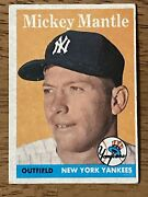 1958 Topps 150 Mickey Mantle Creasefree Nice Card Vgex To Ex