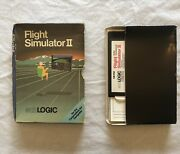 Commodore 64 Tested/works Package Flight Simulator Ii Sublogic 1983 5 1/4 Disc