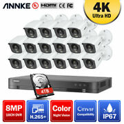 Annke 4k 8mp Ultra Full Color Video 16ch 5in1 Dvr Home Security Camera System Us
