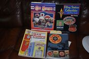 4 Gas Pumps/ Station Collectable Guides, Filling Stations And Check The Oil