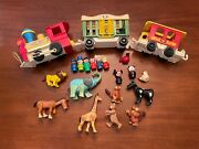 Vintage Fisher Price Little People Circus Train Animals + Extras Big Lot