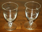 2 Vtg Starglow Water Goblet Glasses By Libbey Glass Company 10oz Etched Glasses