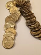 1946 S Unc Roll Jefferson Nickels , Nice Unsearched Roll